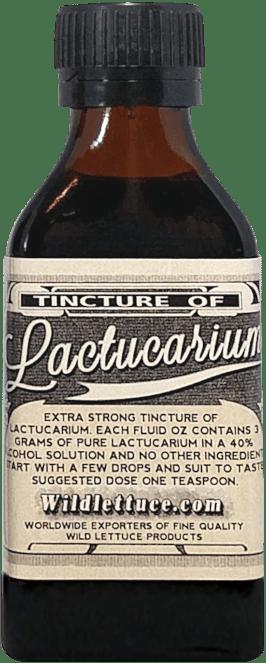 extra strong tincture lactucarium bottle