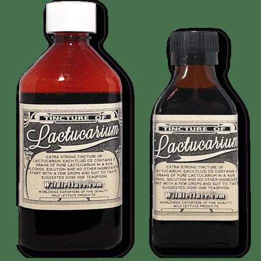 extra strong tincture of lactucarium bottles