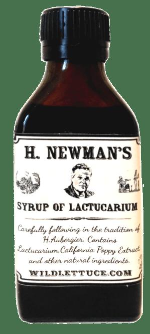 H. Newman's Syrup of Lactucarium bottle