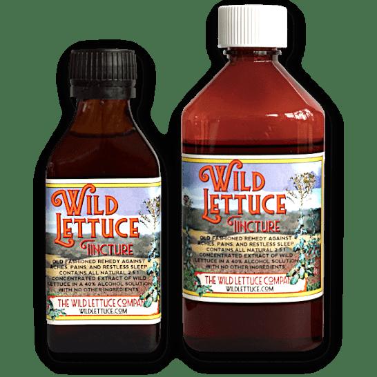 Wild lettuce tincture bottles